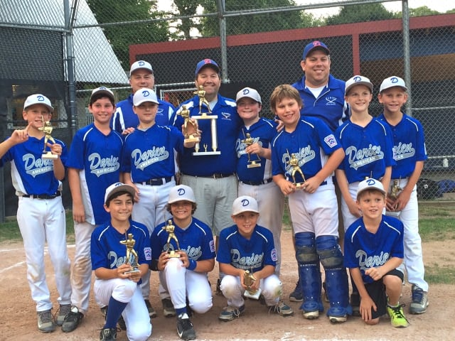 The Darien 9/10 American Little League squad took home first place in the Stamford Tournament.