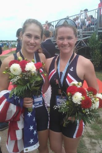Ridgefield's Meg Galloway, right, and Harrison's Lily Lindsay won a bronze medal Sunday at the World Rowing Junior Championships in Germany.