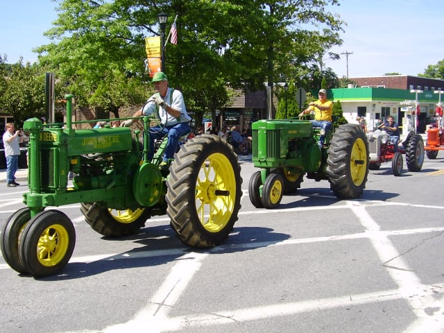 Tractors and vehicles will parade through Yorktown Grange Fair's Antique Tractor and Vehicle Parade.