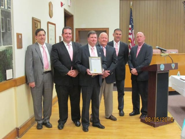 The Elmsford village Board of Trustees and Mayor Robert Williams, center, declared Saturday, Aug. 16, as Chefs Appreciation Day in Elmsford.