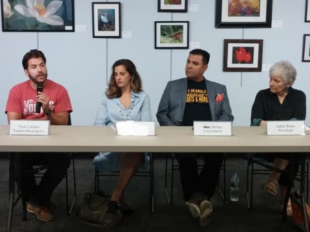 """Four Westchester business owners shared their experiences in the Greenburgh Library forum """"Wisdom From Main Street"""" on Aug. 12."""