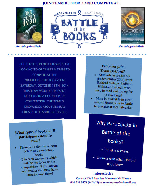 Bedford libraries are seeking students to participate in a county-wide Battle of the Books competition.