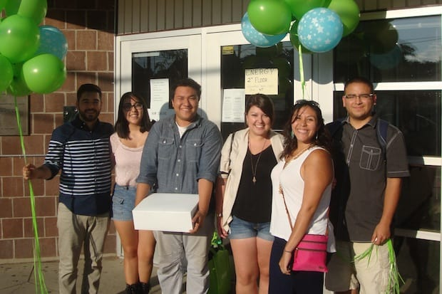 Members of Connecticut Students for a Dream celebrate the two-year anniversary of DACA at the South Norwalk Community Center.