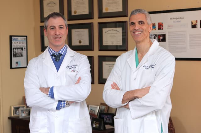 Dr. Jeffrey Greenfield, left and Dr. Mark Souweidane are co-directors of the Children's Brain Tumor Project, which will be the beneficiary of the Bronxville Road Race.