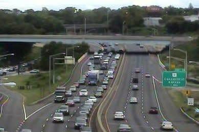 Northbound traffic on Interstate 95 crawled through Norwalk on Friday afternoon.