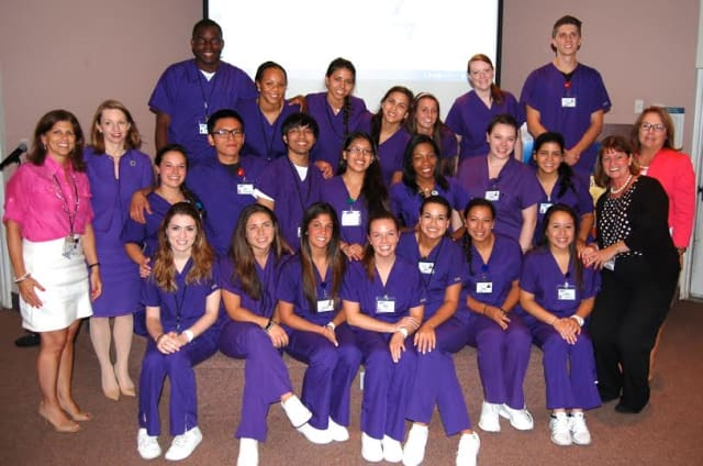 Twenty two students graduated from White Plains Hospital's Richard P. Biondi Nurse Apprenticeship Program, an intensive seven-week program in which they had the opportunity to gain experience in their chosen field and learn critical skills.