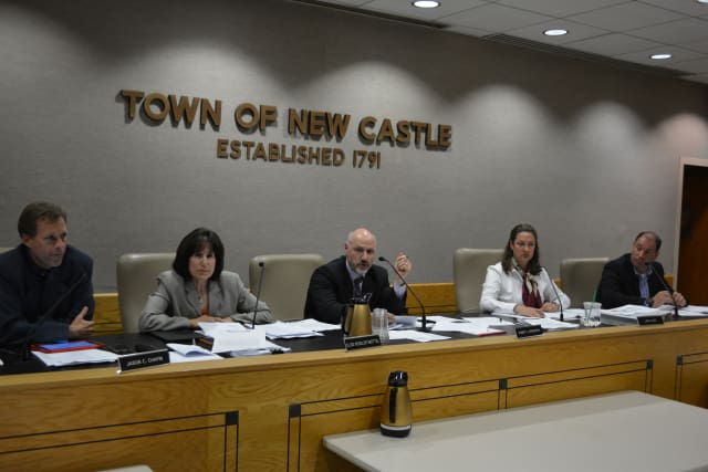 The New Castle Town Board at its Aug. 12 meeting.