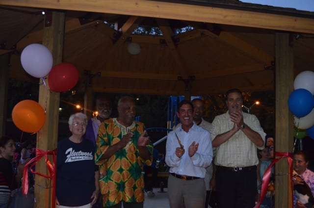 A ribbon cutting was held to open the newly renovated Broad Street Pavilion.