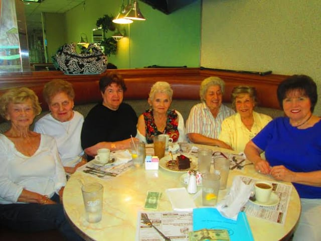 From left: Dot Buccheri, Fran Terry, Julie Lanza, President - Doris Kramer, Ann Pezzola, Paul Tarantino and Connie Vaccaro. Not pictured: Nancy Vitaliano, Micky Wright, Ela Hathaway, Augusta Scari.