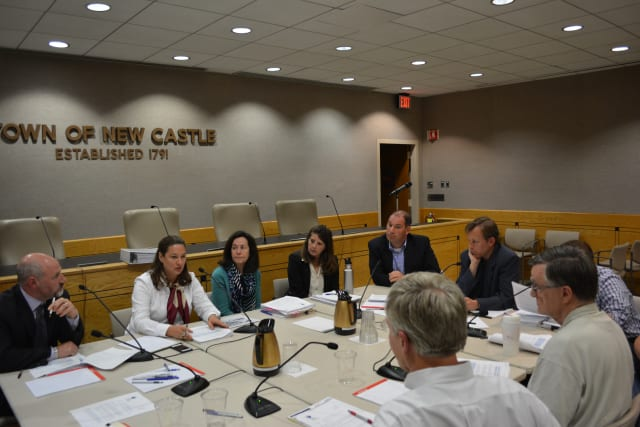 The New Castle Town Board at a joint meeting with Planning Board and Master Plan Steering Committee members.
