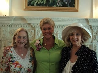 From left to right, club members Barbara Dannenberg, Mitzi Renz and Barbara Vrooman.