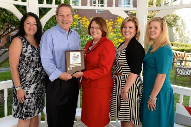 From left: Jennifer Gelick, regional director, Westchester and Putnam Counties, AHA; Joel Seligman, CEO, NWH; Judy Campisi, executive director, Westchester/Fairfield AHA; Kerry Flynn Barrett, VP of HR, NWH; and Jane Singhal, wellness coordinator, NWH
