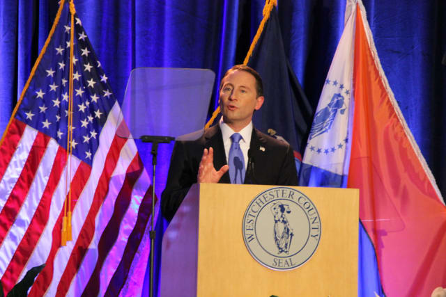 Westchester County Executive Rob Astorino unveiled a new jobs plan in Albany Aug.21 intended to make New York an economically competitive state.