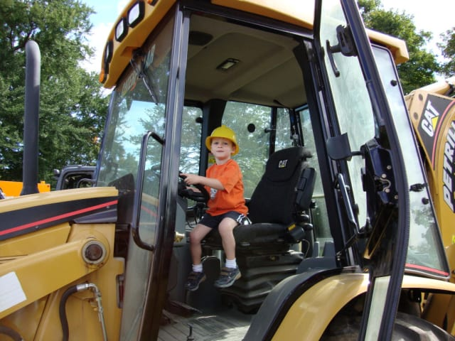 An Eastchester youngster enjoying the trucks at a past Touch-A-Truck event.