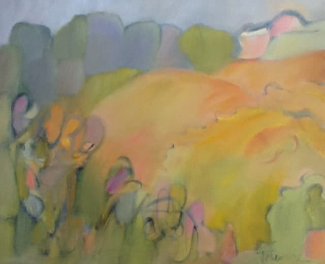 One of the works of Trish Monahan currently on display at the Darien Library.