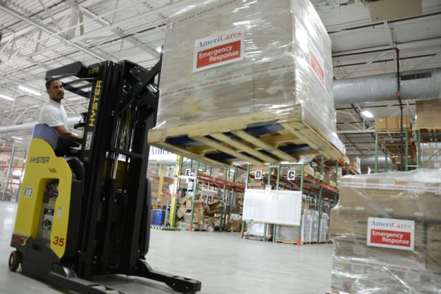 Medical supplies from Stamford-based AmeriCares are headed for Liberia to help fight the ebola breakout.