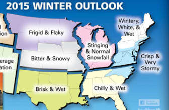 The Farmers' Almanac is predicting below average temperatures and above average precipitation for the Northeast this year.