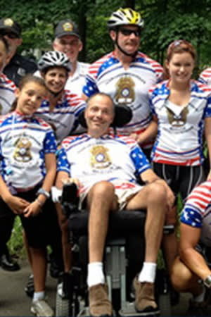 Sgt. Roger Petrone of the Greenwich police force died in February after a seven-year fight with Lou Gehrig's Disease.