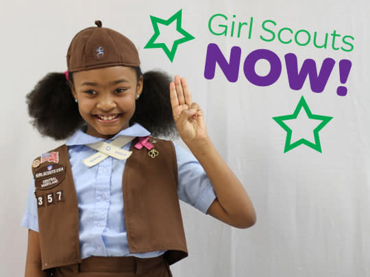 Join Girl Scouts at recruitment events.