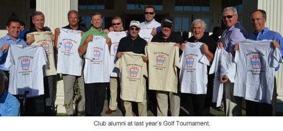 Boys & Girls Club alumni at last year's golf tournament.