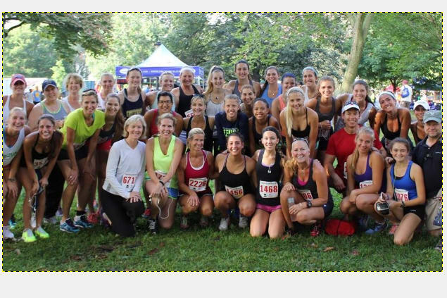 Teammates from Norwalk-based Connecticut Boat Club and parents ran Monday in road races in New Haven.