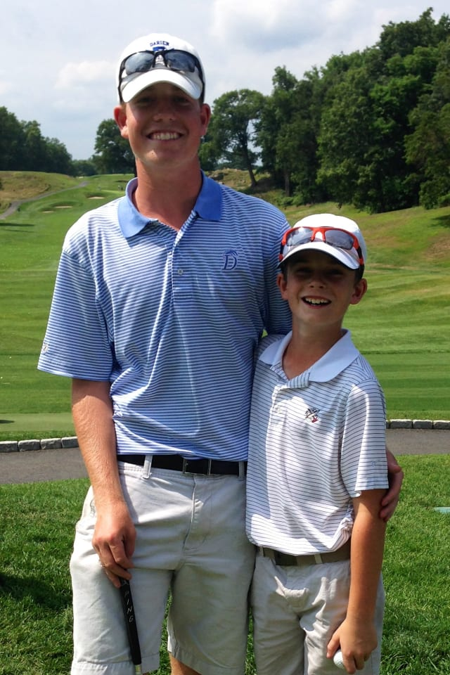 Brothers Christian, left, and Thomas Ostberg of Darien won club championships at the Apawamis Club in Rye, N.Y.