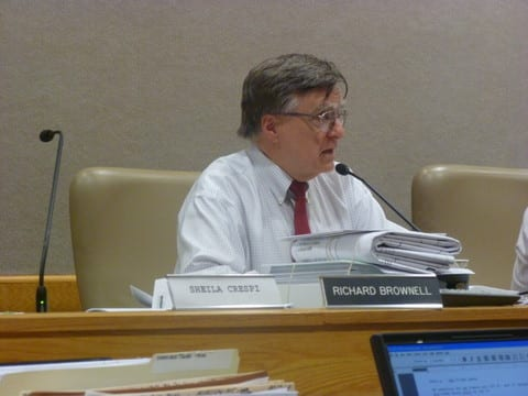 Planning Board Chair Richard Brownell wondered why the proposed Chappaqua Crossing grocery store had to be so big.