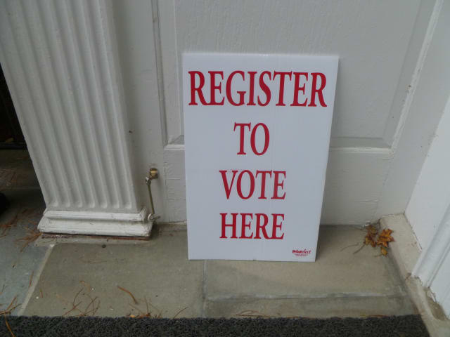 Voter registration continues in Weston until Tuesday.