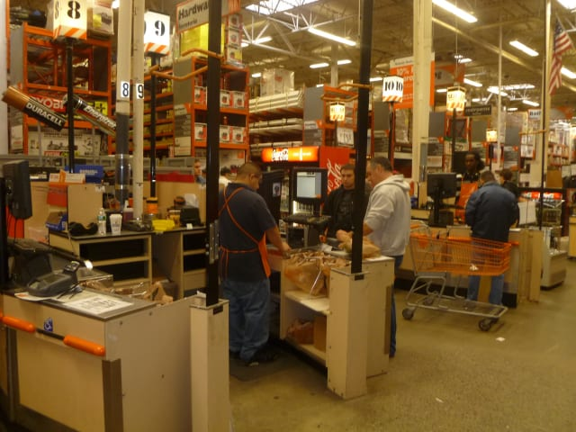 Home Depot shoppers were unable to find some of the hurricane-related items they needed on Saturday.