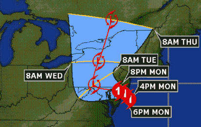 Hurricane Sandy will continue to pound Westchester with strong wind, rain and flooding late into Monday night and Tuesday morning.
