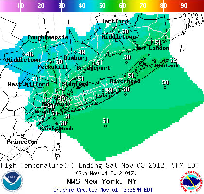 Saturday will be cool and dry across Westchester County.