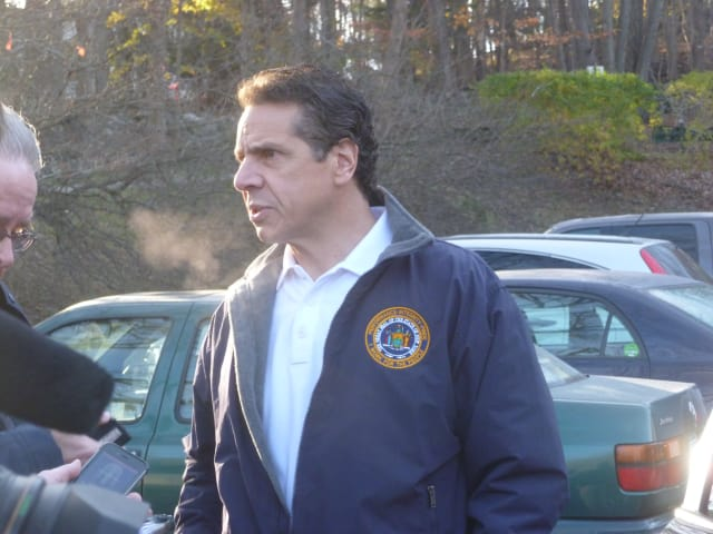 Gov. Andrew Cuomo voted Tuesday morning in New Castle.