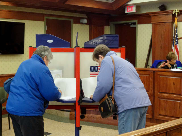 Election inspectors at the Tarrytown Village Police Department received fewer voting ballots than possible voters.