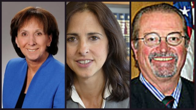 Sandra Sciortino (left), Maria Rosa (center) and Gerald Loehr (right) were elected to the State Supreme Court in the 9th Judicial District Tuesday.