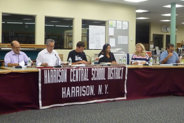 The Harrison Board of Education rescheduled its Wednesday meeting as a result of the nor'easter.