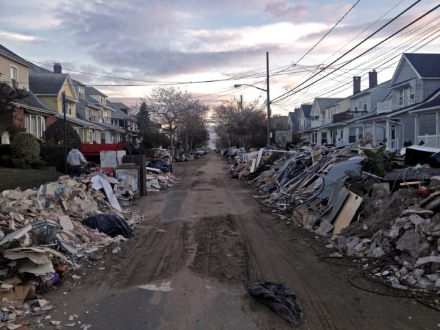 Parts of the Rockaways have been heavily damaged or destroyed by Sandy. Two Tuckahoe organizations are joining to help clean up.