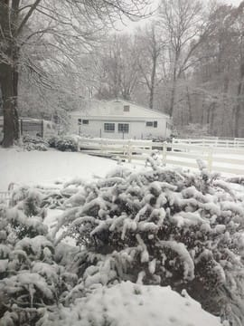 New Castle was hit with its first snowfall of the season Wednesday.