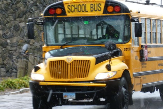 Schools are on a two-hour delay in Weston as well as in Easton-Redding-Region 9.