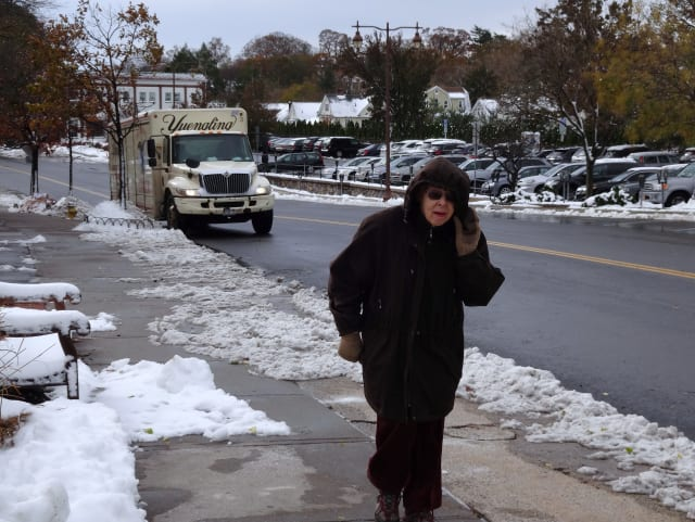 Bronxville was hit with a nor'easter resulting in additional power outages just as it had recovered from Sandy.