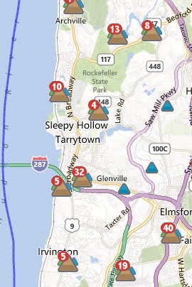 About 130 customers in Tarrytown, Sleepy Hollow and Irvington remained without power Friday morning.