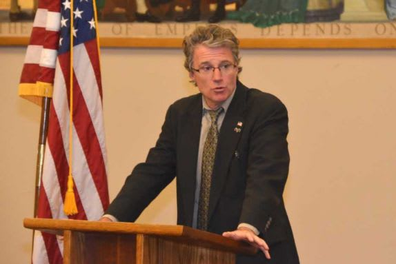 New Canaan High School teacher Richard Webb will speak at the town's Veterans Day program on Sunday.