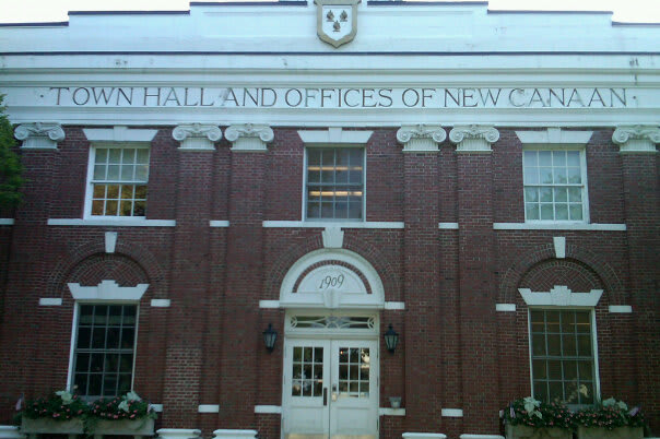 The New Canaan Town Clerk's Office closed on Friday and will reopen on Thursday on Elm Street.