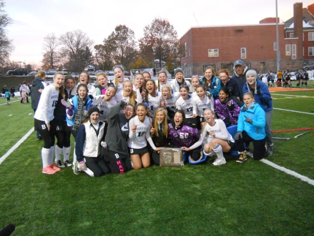 Bronxville defeated Section 9 champion Pine Plains, 2-0, in a New York State Class C field hockey regional semifinal Saturday. The Broncos are one win away from a return trip to the state final four.