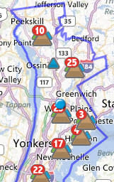 Con Edison says all remaining outages in Westchester County will be restored by 11 p.m. Monday.