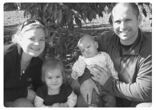The Famigletti family: Casey, left, Regan, Gracie and Doug.