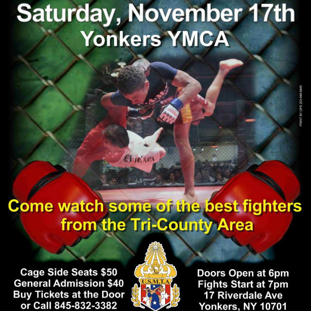 The Yonkers YMCA will host the first mixed martial arts event ever held in Westchester on Saturday.