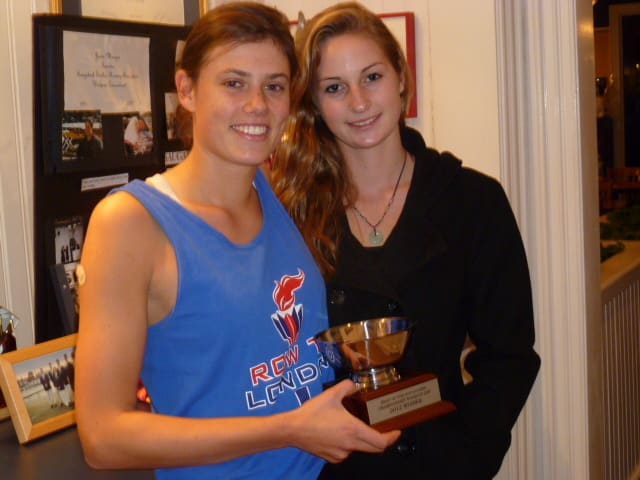 Westport's Louisa Freeman, left, and Weston's Jo Gurman are a successful duo at Saugatuck Rowing Club.