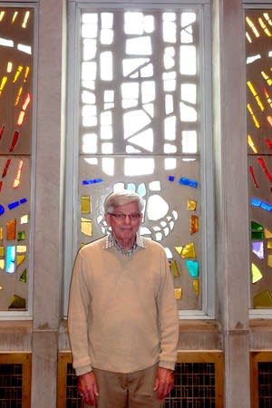 The Rev. John Barrett says six Bronxville churches take turns hosting the Thanksgiving Day service.