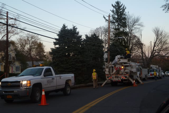 All power has been restored in Harrison, according to Con Edison's power outage map.