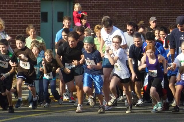 Families will compete in the annual Peter Oley Turkey Trot in Irvington this Sunday. File Photo.